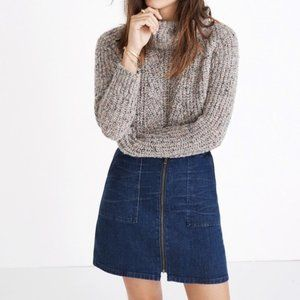 Madewell Denim Utility Zip Skirt 27